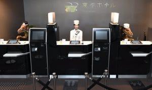 Henn-na hotel Japan. World's first robot hotel